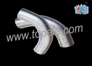 BS4568 Galvanized Steel Pipe Malleable Iron Channel Intersection Elbow 20mm / 25mm